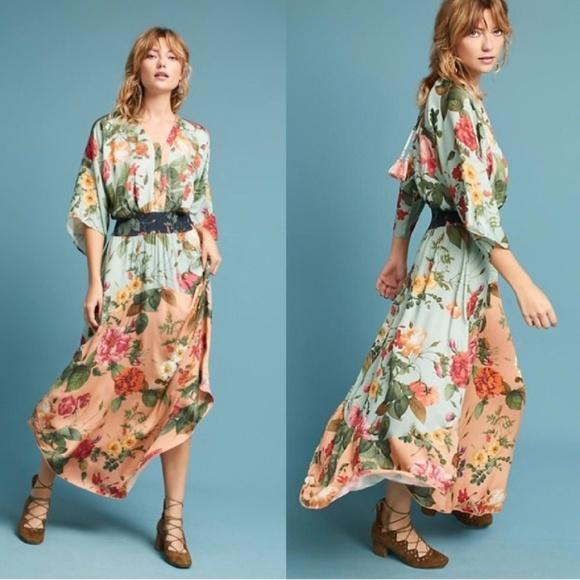 5afaa287df7bb Anthropologie Dresses   Nwt Farm Rio Marilla Maxi Dress Size Small ...